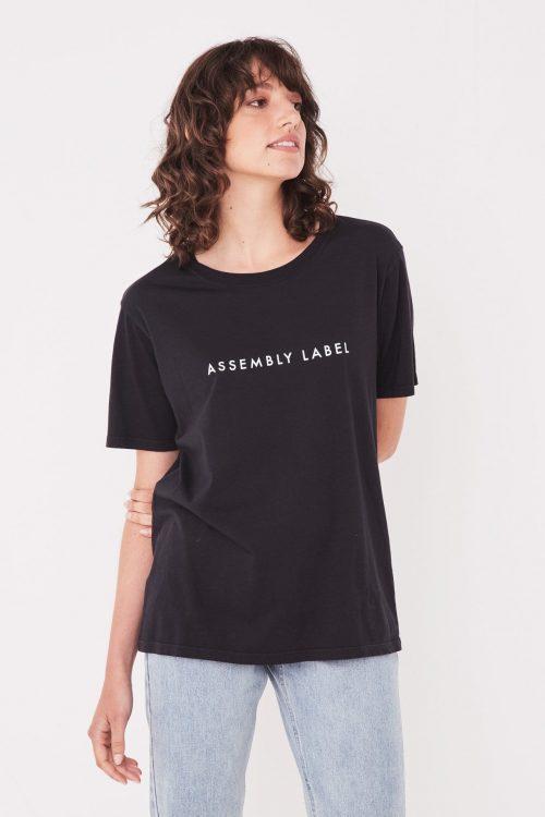 ASSEMBLY-LABEL-LOGO-COTTON-CREW-BLACK