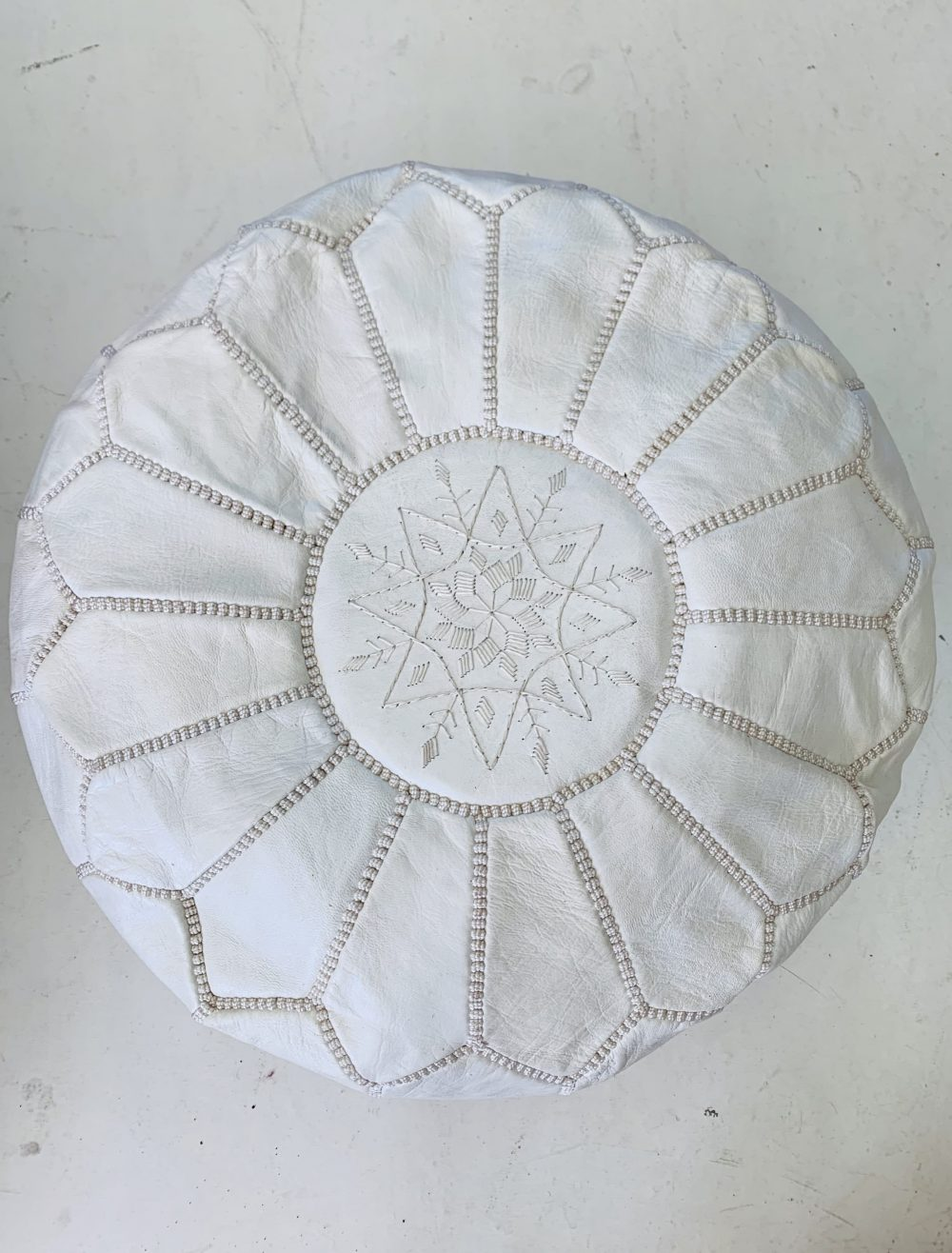Moroccan Leather Floor Pouffe