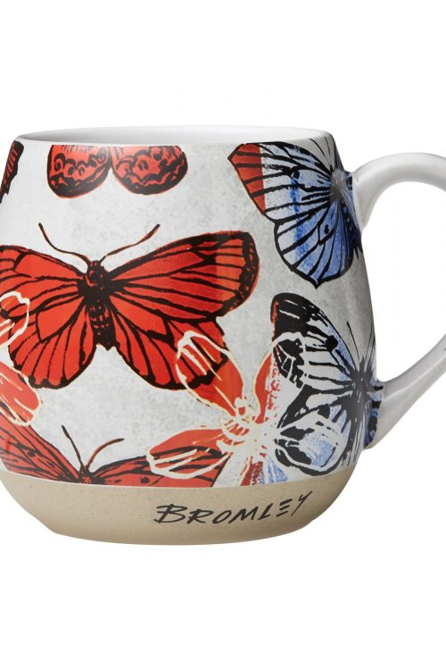 Rg Hug Me Mug Xl Red Butterflies Bromley