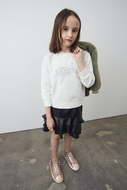 Block Logo Sweatshirt Kids White