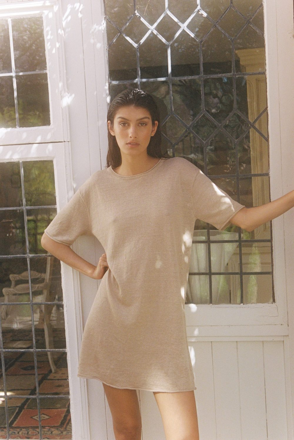 ROWIE-ULLA-KNIT-DRESS-TAUPE