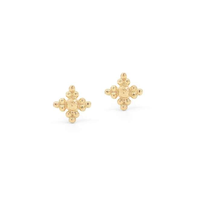Blessed Earrings Stud Gold