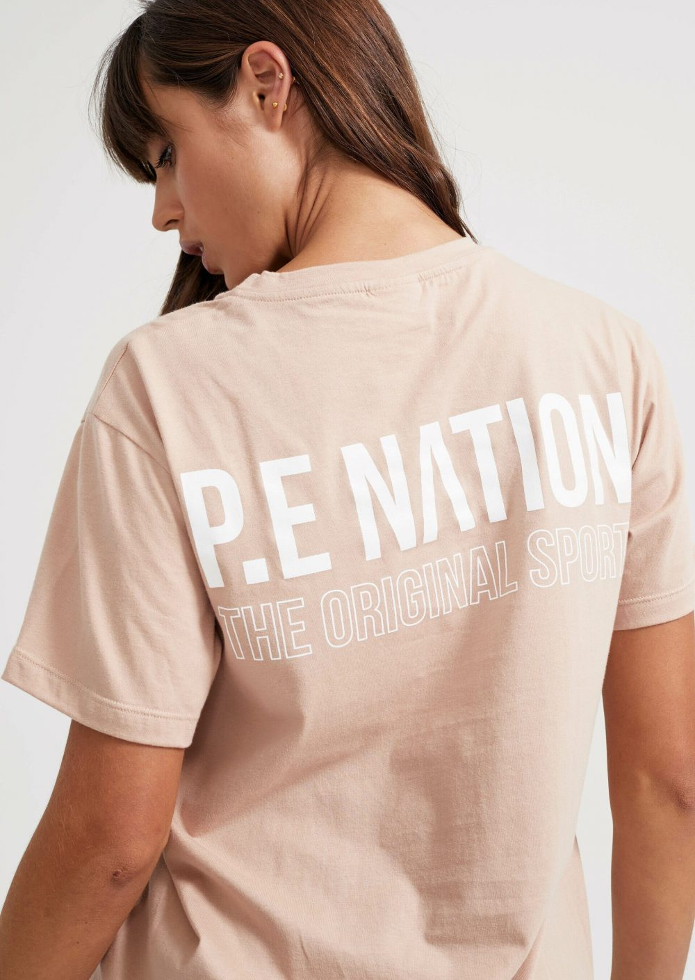 National Level Tee In Rugby Tan