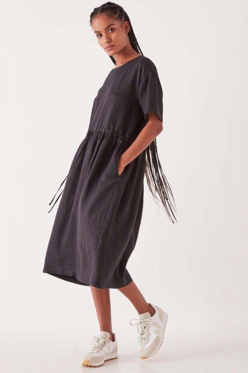 ASSEMBLY-LABEL-OLIVIA-LINEN-DRESS-BLACK