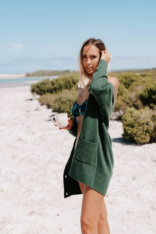 Blake Oversized Cardigan Forest Green