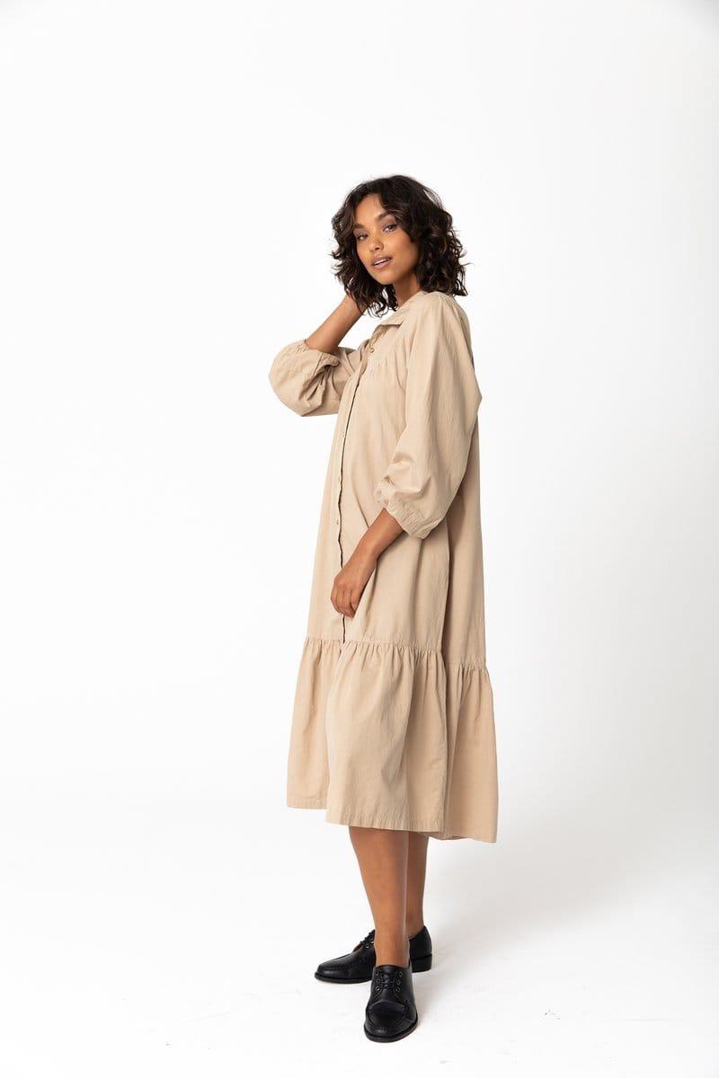 Andy Organic Midi Dress Fawn