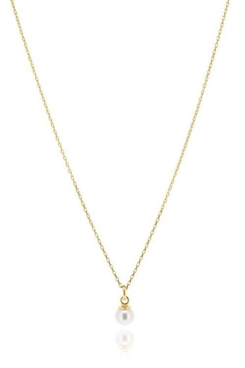 Cleo Pearl Necklace Yellow Gold
